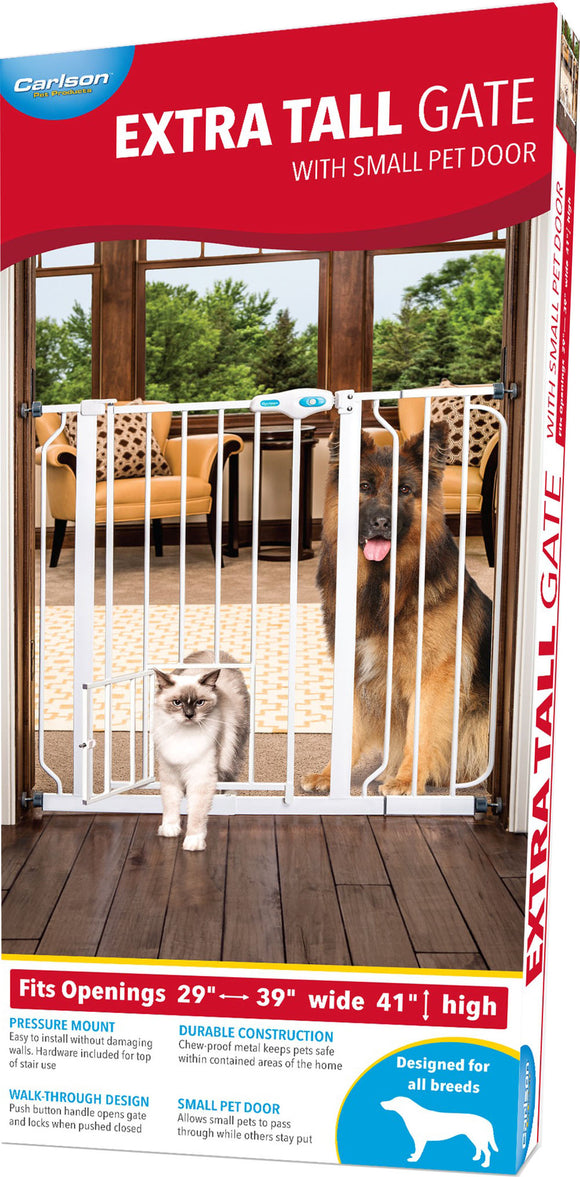 Carlson Pet Products-Extra Tall Walk-through Gate W-door