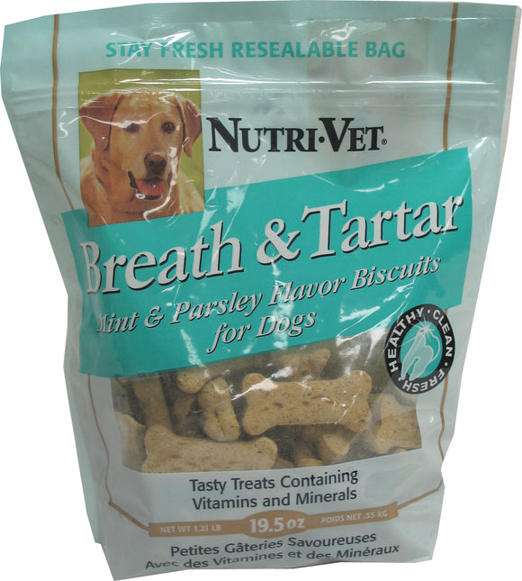 Nutri-vet Wellness Llc  D - Breath & Tartar Biscuits