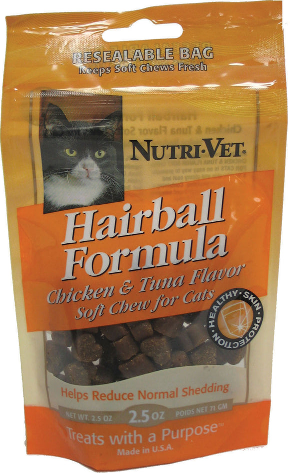 Nutri-vet Wellness Llc  D - Hairball Soft Chews For Cats
