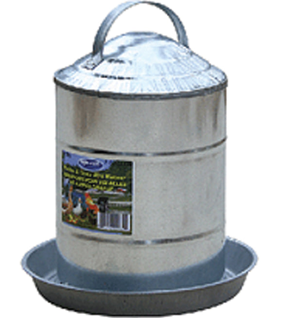 Millside Industries - Double Wall Cone Top Galvanized Poultry Wall Fount