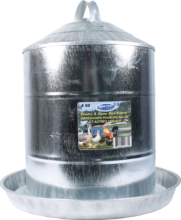 Millside Industries - Double Wall Cone Top Galvanized Poultry Fountain