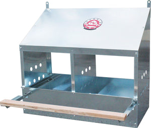 Harris Farms Llc.-Galvanized 2-hole Poultry Nesting Box