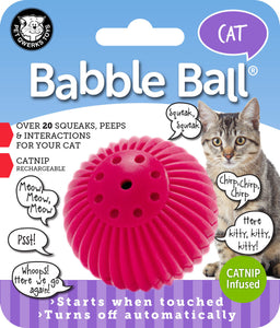 Pet Qwerks - Babble Ball With Catnip