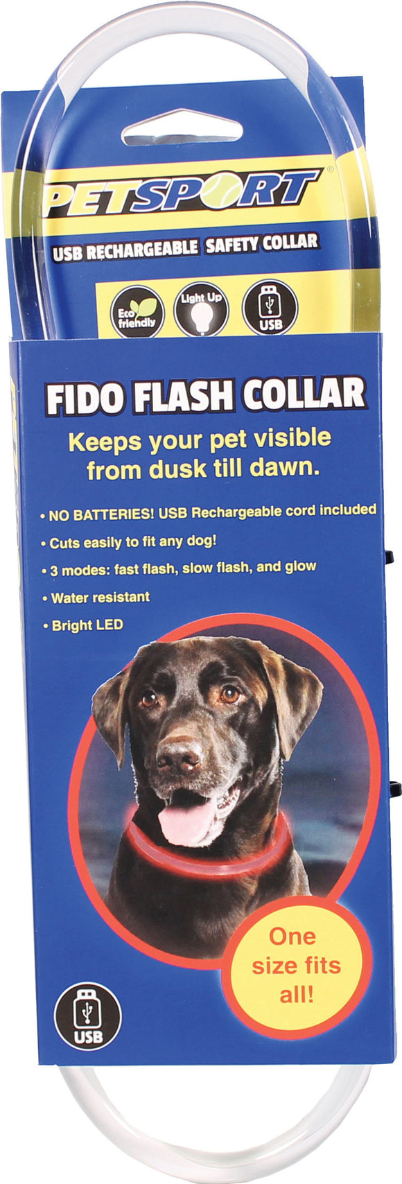 Petsport - Fido Flash Usb Rechargeable Led Safety Collar