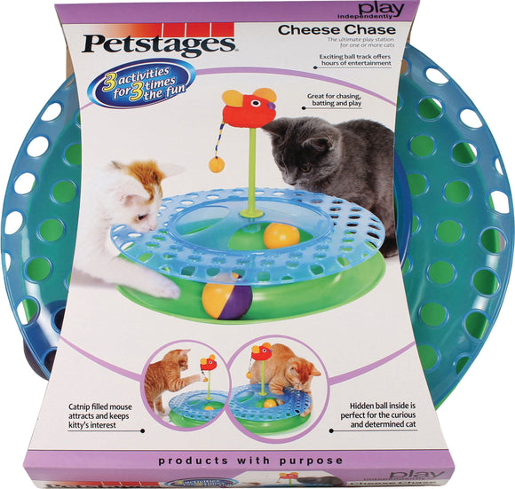 Petstages - Cheese Chase With Catnip Mouse Cat Toy