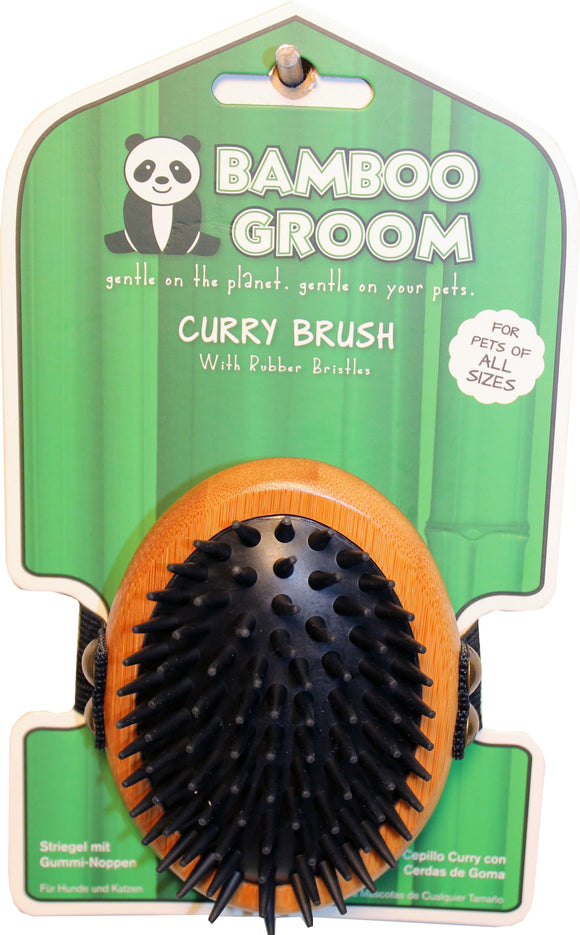Paws/alcott - Bamboo Curry Brush With Rubber Bristles