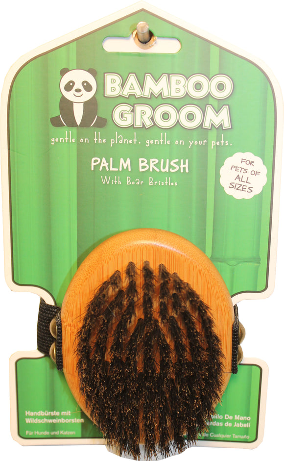 Paws/alcott - Bamboo Palm Brush With Boar Bristles