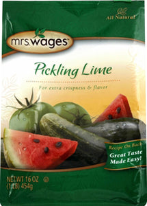 Precision Foods Inc - Mrs. Wages Pickling Lime Seasoning