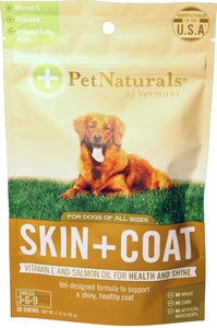 Pet Naturals Of Vermont - Skin + Coat Chews For Dogs