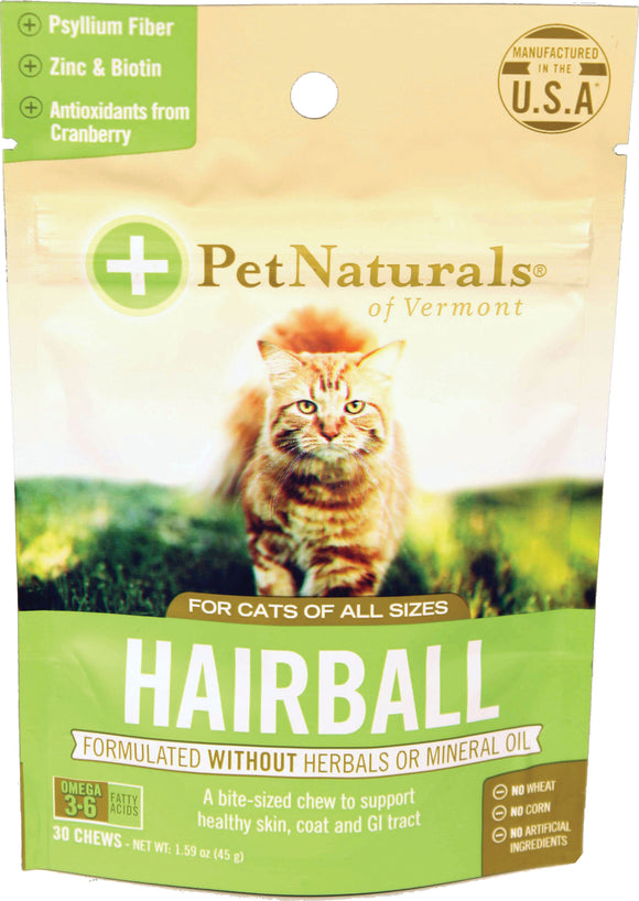 Pet Naturals Of Vermont - Pet Naturals Hairball For Cats
