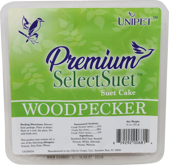 Unipet Llc - Premium Select Woodpecker Suet (Case of 12 )