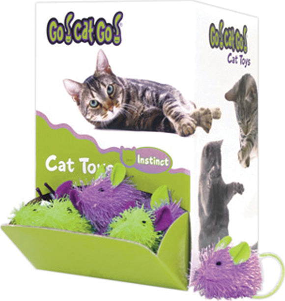 Ourpets Company - Go Cat Go Mini Hairy Mouse Bulk Display