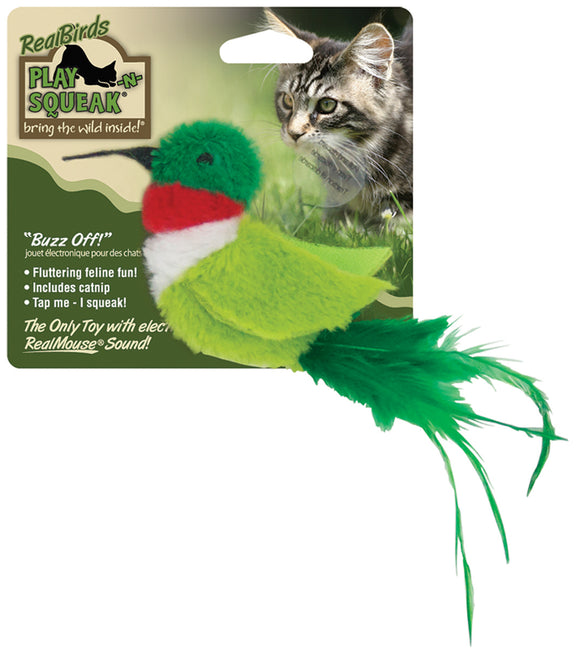 Ourpets Company - Play-n-squeak Realbirds Buzz Off