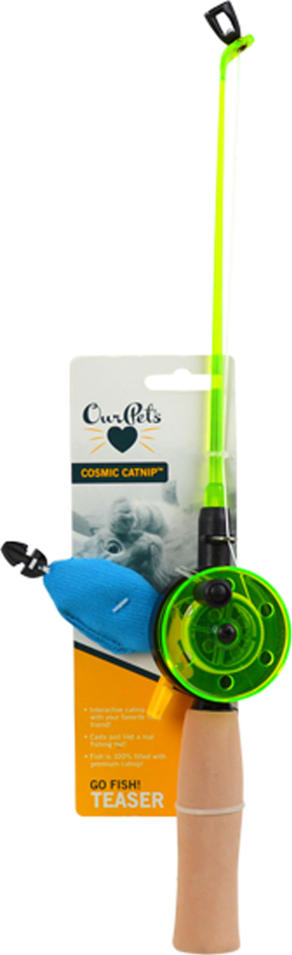 Ourpets Company - Go Fish! Fishing Rod With Catnip Fish