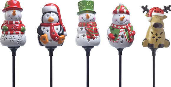 Coleman Cable          P - Holiday Ceramic Stake Lights Floor Display