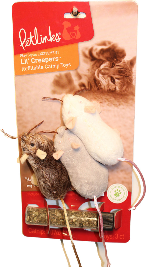 Worldwise Inc - Lil Creepers Mice Refillable Catnip Toy