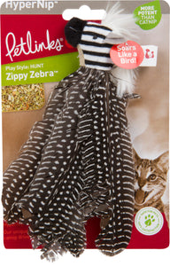 Worldwise Inc - Hypernip Zippy Zebra Feathers Cat Toy