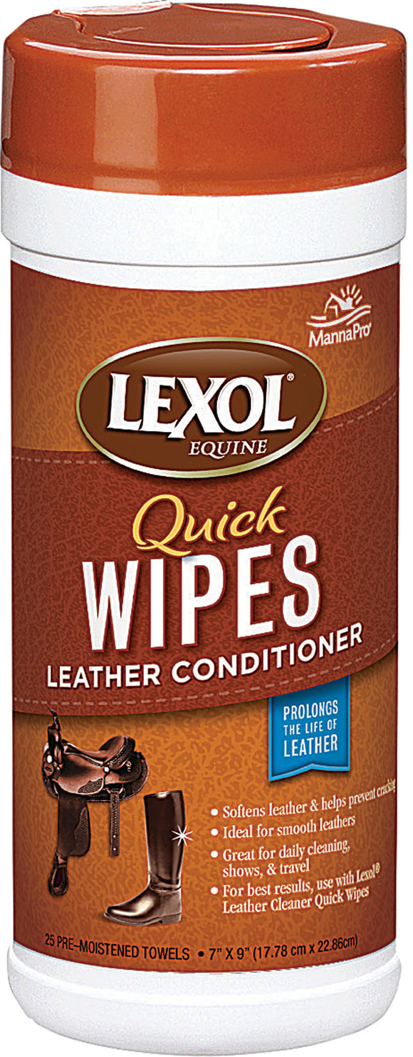 Manna Pro-equine - Lexol Leather Conditioner Quick Wipes