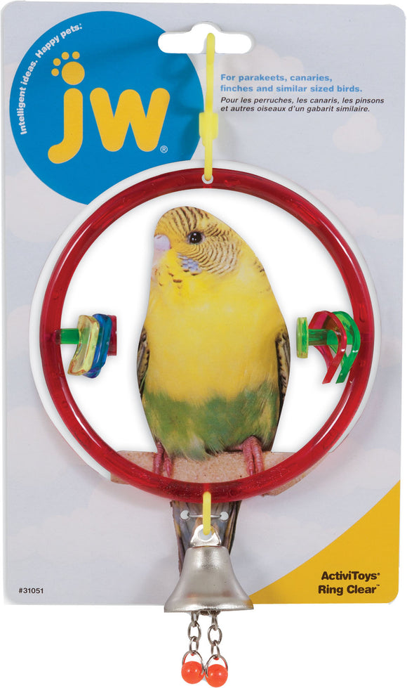 Jw - Small Animal/bird - Activitoys Ring Clear Bird Toy