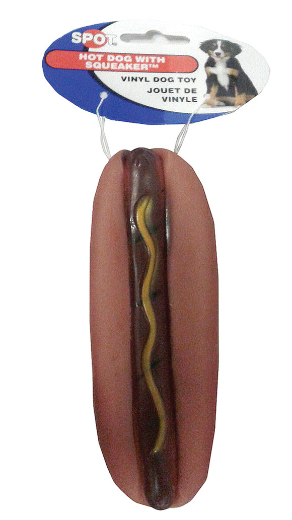 Ethical Dog - Vinyl Hot Dog With Squeaker Dog Toy