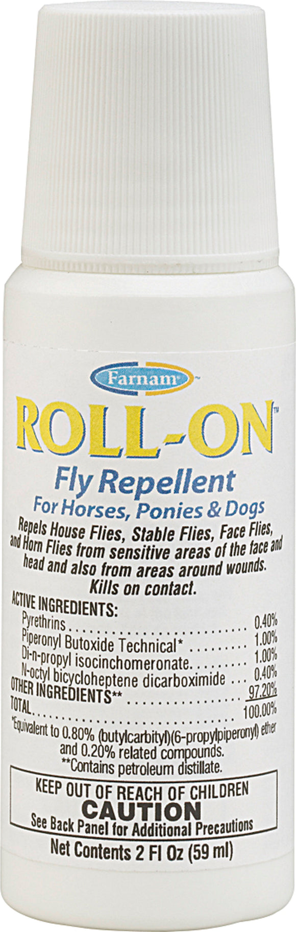 Farnam Companies Inc - Roll-on Fly Repellent For Horses Ponies & Dogs