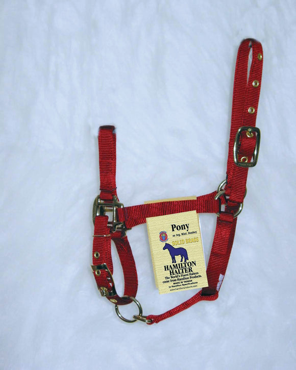Hamilton Halter Company - Adjustable Chin Horse Halter With Snap