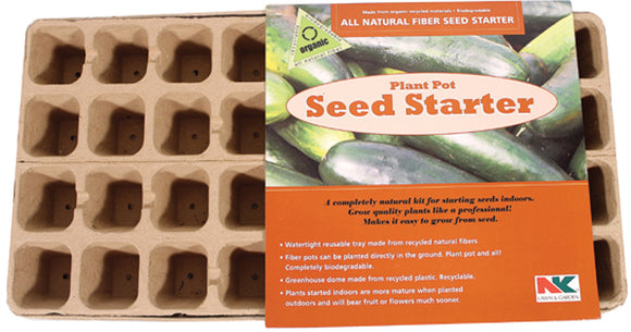 Jiffy/ferry Morse Seed Co - All Natural Fiber Seed Starter Plant Pots