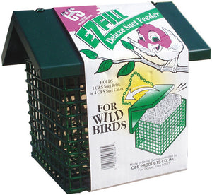 C And S Products Co Inc P - Ez Fill Deluxe Suet Feeder With Roof