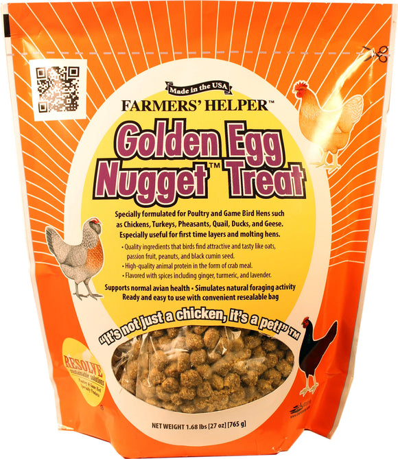 C And S Products Co Inc P - Farmer's Helper Golden Egg Nugget Treat