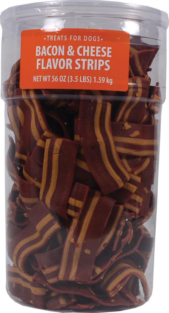 Triumph Pet Industries - Wavy Bacon & Cheese Flavor Strips Dog Treats