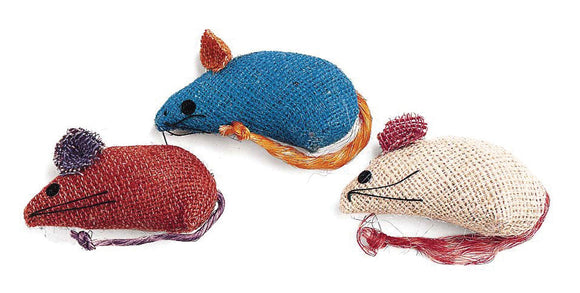 Ethical Cat - Burlap Mice