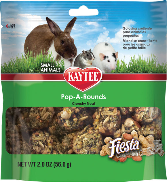 Kaytee Products Inc - Fiesta Pop-a-rounds Treat - Small Animals
