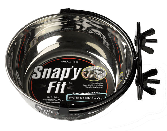 Midwest Homes For Pets - Snap'y Fit Dog Bowl