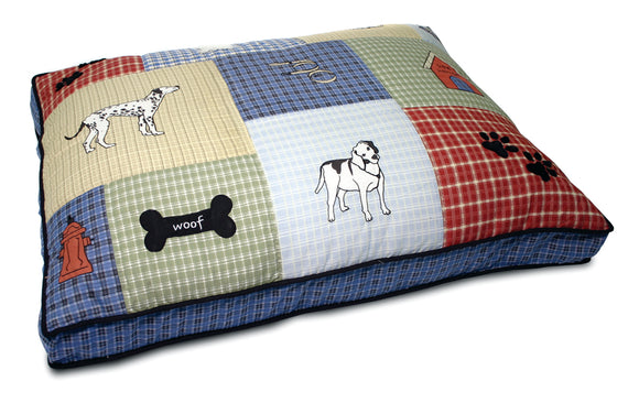 Petmate Inc - Beds - Classic Dog Applique Gusseted Bed