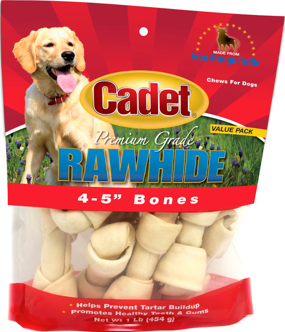Ims Trading Corporation-Rawhide Knotted Bone 4-5in Value Pack