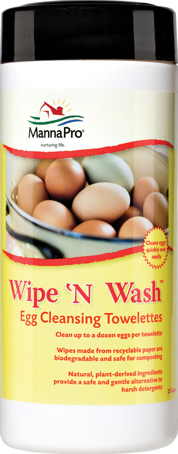 Manna Pro-farm - Wipe 'n Wash Egg Cleansing Towelettes