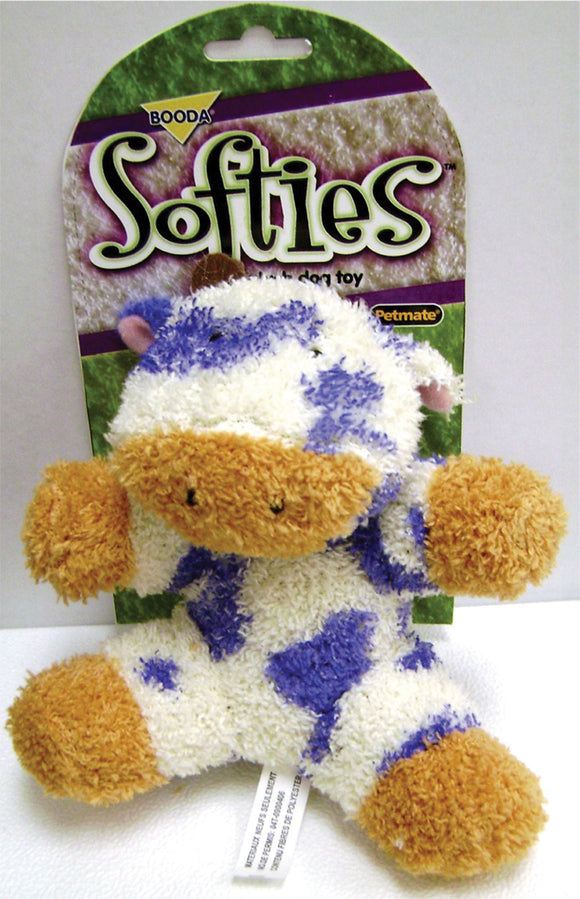 Booda Products - Softies Terry Cow Dog Toy