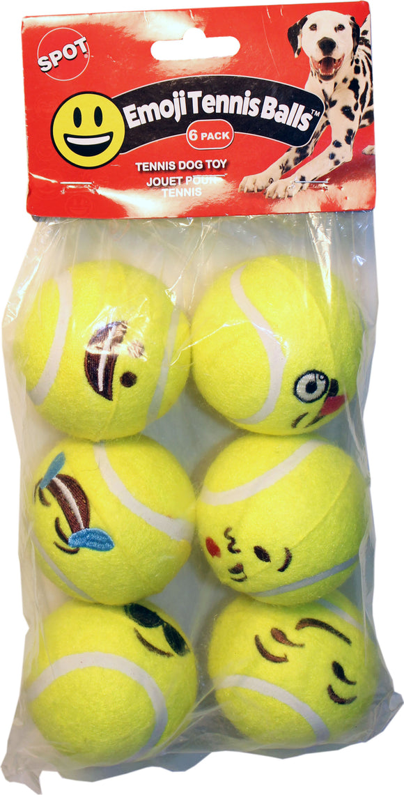 Ethical Dog - Emoji Tennis Ball 6 Pk
