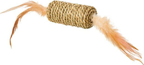 Ethical Cat - Seagrass Roller W/feathers Cat Toy