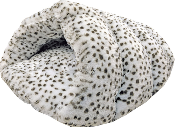 Ethical Fashion-seasonal - Sleep Zone Snow Leopard Cuddle Cave