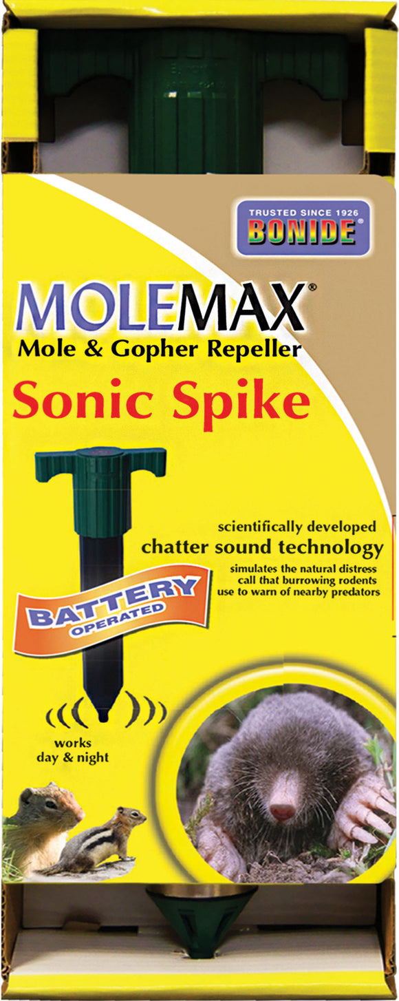 Bonide Products Inc P-Molemax Sonic Spike Mole & Gopher Repeller
