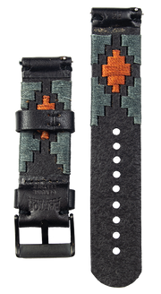 Black Leather Strap - Gaucho (Orange) PVD Buckle