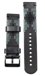 Black Gaucho Leather Strap- PVD Buckle