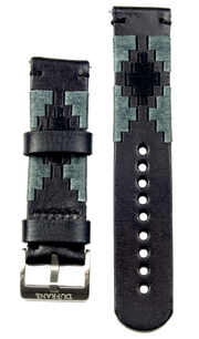 Black Leather Strap - Gaucho (Grey) SS Buckle