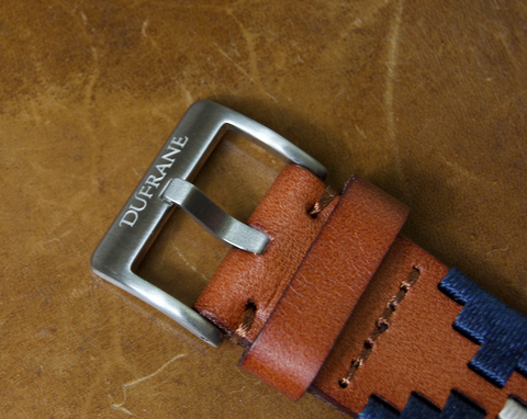 Brown Leather Strap - Gaucho (Blue) SS Buckle