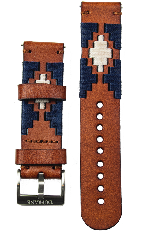Brown Gaucho Leather Strap- SS Buckle