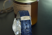 Blue Alligator Strap with SS Deployant Buckle