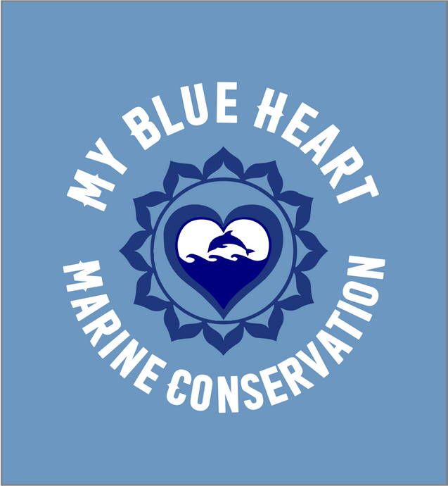 My Blue Heart Marine Conservation - Completes logo ready for printing.