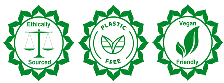 ethically sourced, plastic free and vegan friendly