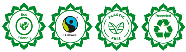 eco-friendly, plastic free, recycled, fair trade
